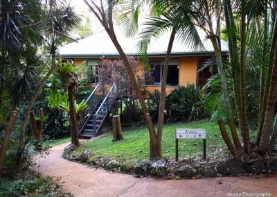Cabin's entrance