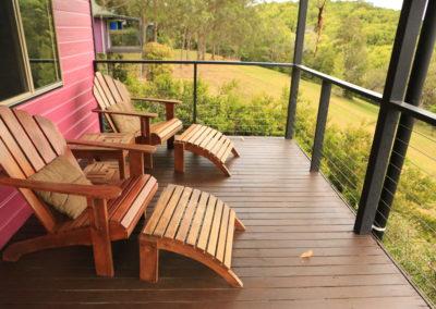 Cabin's balcony